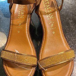 Italian Shoemaker Bronze Wedges